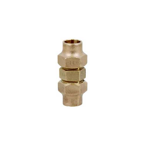A brass compression fitting